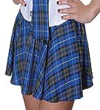 Crazy Chick Damen Mini Schottenrock Shorts Skater Mikro -...