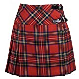 Neu Damen Royal Stewart Tartan Schottisch Mini Billie...