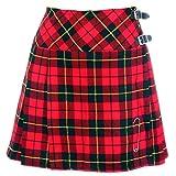 Neu Damen Wallace Schottenmuster Rot Mini Billie Schottenrock Mod...